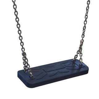The seats are made with an aluminum construction covered with a soft EPDM rubber, hanged on 6mm stainless steel chains.
