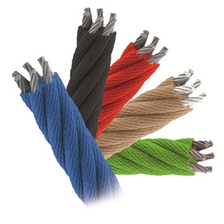 Polypropylene ropes pp-multisplit type with a steel core and a diameter of 16 mm.